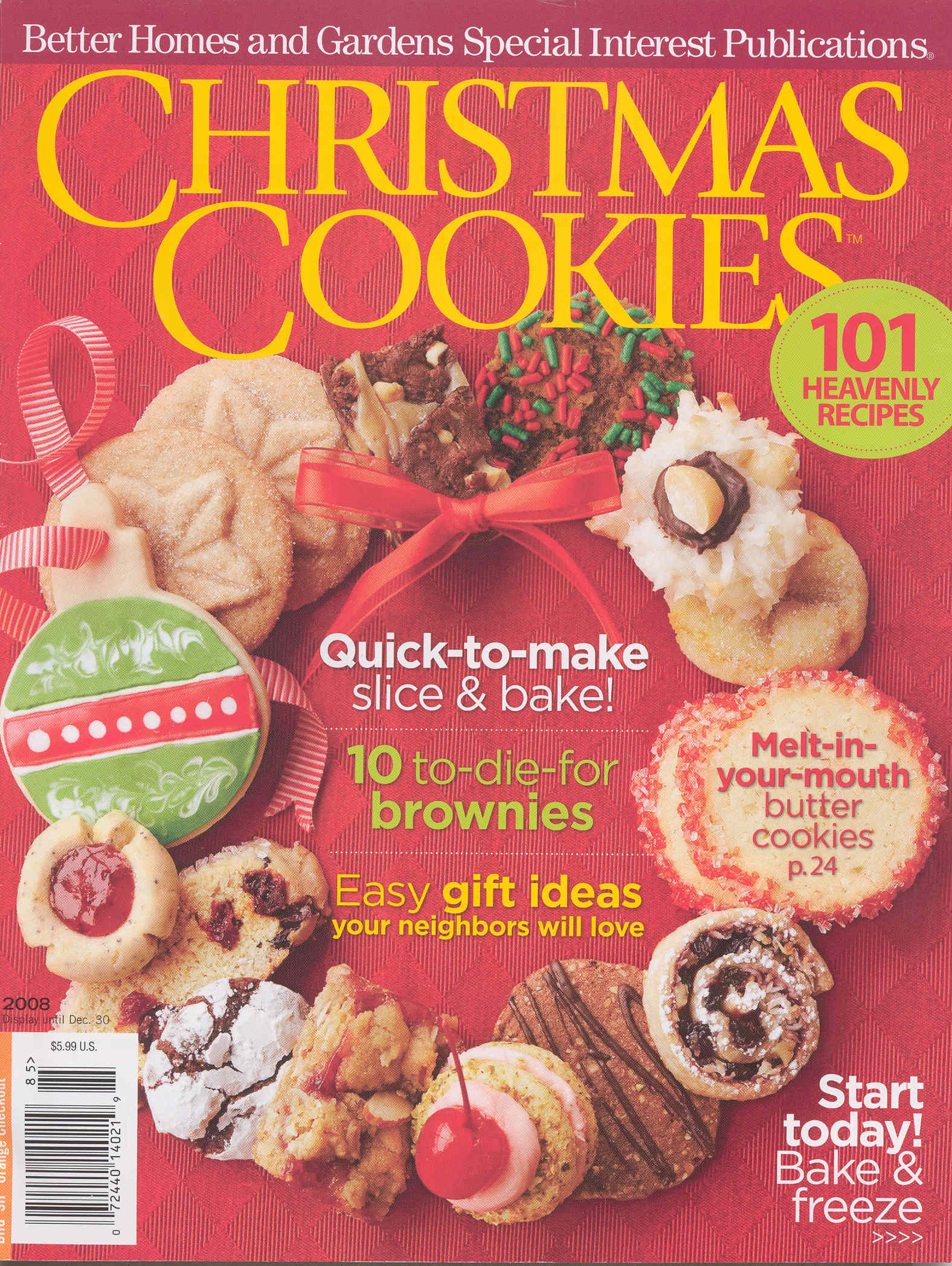 Better homes and gardens christmas cookies cover Better homes and gardens christmas special
